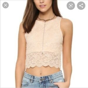 Intimately Free Cropped Lace Top